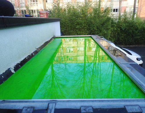 Mise en eau de toitures